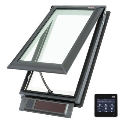 21 x 37-7/8 in. Solar Powered Fresh Air Venting Deck-Mount Skylight with Laminated LowE3 Glass