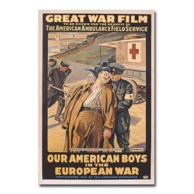 24 in. x 32 in. Our American Boys in the European War Canvas Art