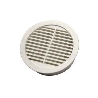 3 in. Resin Circular Mini Wall Louver Soffit Vent in White (4-Pack)