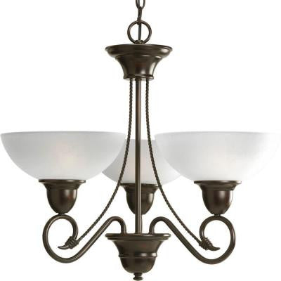 Pavilion Collection 3-Light Antique Bronze Chandelier