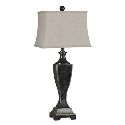 Luna 31 in. Antique Black Incandescent Table Lamp