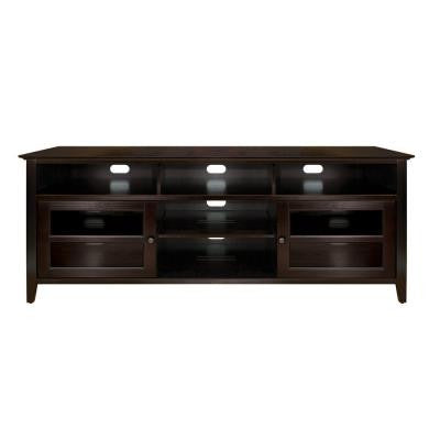 75 in. 4-Shelf Audio/Video Cabinet - Dark Espresso