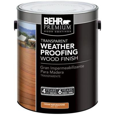 1-gal. #501 Cedar Naturaltone Transparent Weatherproofing Wood Finish