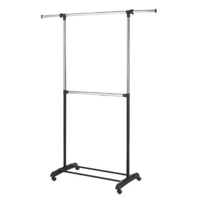 Adjustable 2-Rod Garment Rack in Chrome
