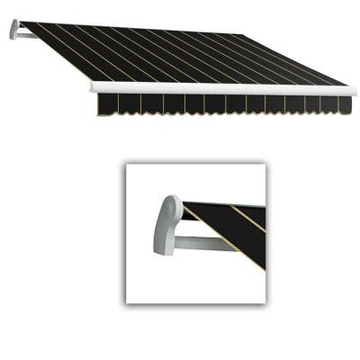 20 ft. LX-Maui Right Motor with Remote Retractable Acrylic Awning (120 in. Projection) in Black Pin