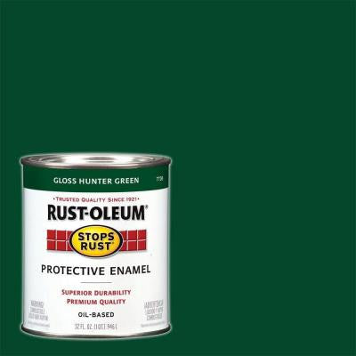 1-qt. Gloss Hunter Green Protective Enamel Paint (Case of 2)