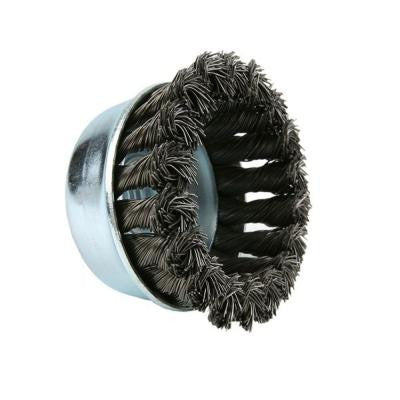 3 in. Stainless-Steel Knotted Cup Brush