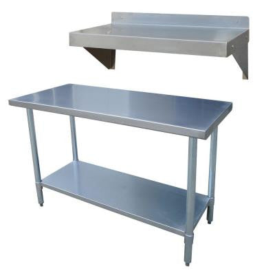 24 in. x 49 in. Stainless Steel Utility Work Table with Work Shelf