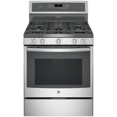 Profile 5.6 cu. ft. Gas Range with Self-Cleaning Convection Oven in Stainless Steel