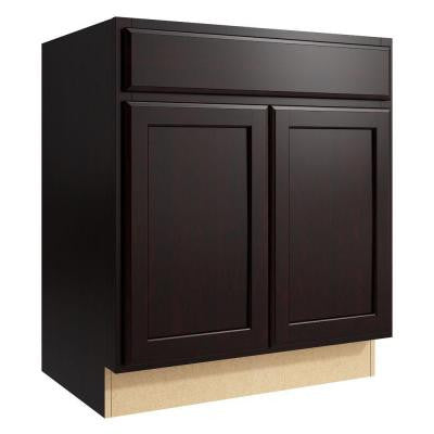 Stig 30 in. W x 34 in. H Vanity Cabinet Only in Coffee