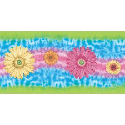 9 in. x 15 ft. Brightly Colored Tye Dye Border
