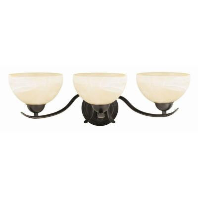 Trevie 3-Light Oil-Rubbed Bronze Vanity Light