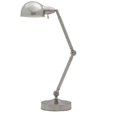 20 in. Nickel/Chrome Table Lamp