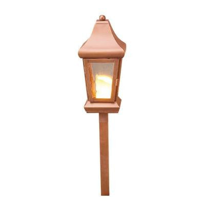 1-Light Low Voltage Raw Copper Path Light