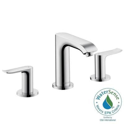 Metris 8 in. Widespread 2-Handle Low-Arc Bathroom Faucet in Chrome