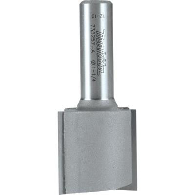 1-1/4 in. x 1-1/4 in. Carbide-Tipped, Straight 2 Flute Router Bit with 1/2 in. Shank