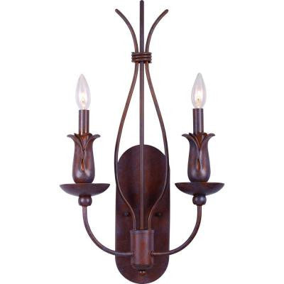 Lafayette 2-Light Prairie Rock Wall Sconce