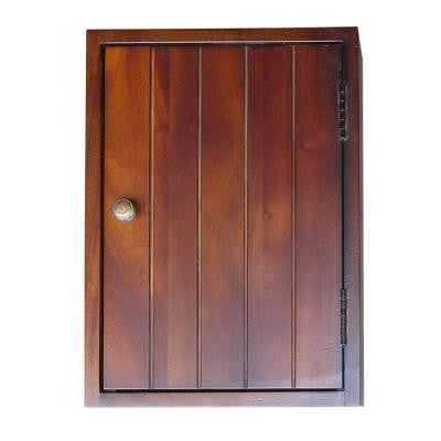 10 in. W Mahogany Key Storage Cabinet