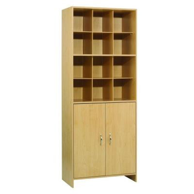 28 in. W x 72 in. H 12-Compartment Closet Tower Organizer in Birch