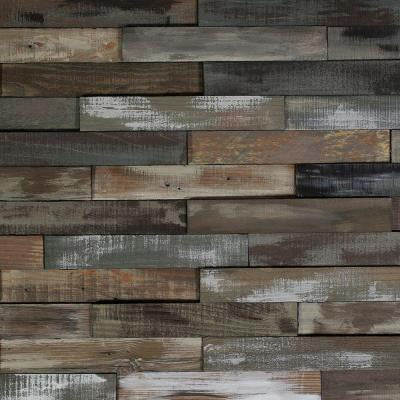 Deco Planks Weathered Gray 1/2 in. Thick x 2 in. Wide x 12 in. Length Solid Hardwood Wall Planks (10 sq. ft. / case)
