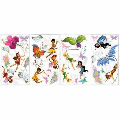 5 in. x 11.5 in. Disney Fairies 30-Piece Peel and Stick Wall Decals