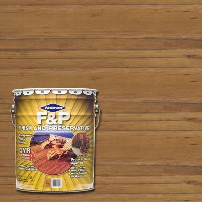 5-gal. F&P Cedar Exterior Wood Stain Finish and Preservative