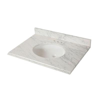 31 in. x 22 in. Stone Effects Vanity Top with Basin in Cascade