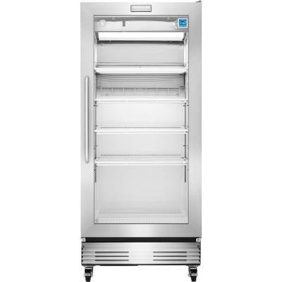 Commercial 18.4 cu. ft. Food Service Grade Glass Door Merchandiser Refrigerator in Stainless Steel, ENERGY STAR