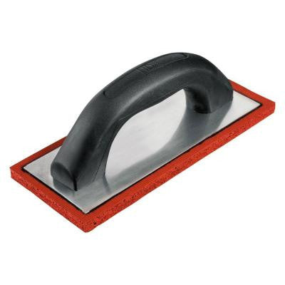 4 in. Red Rubber Concrete and Plaster Grout Float