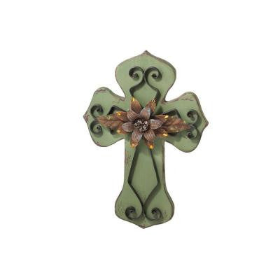 Sundry 20 in. Green Wall Cross