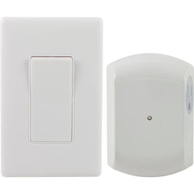 Wireless Remote Wall Switch Light Control with Grounded Outlet Receiver - 18279