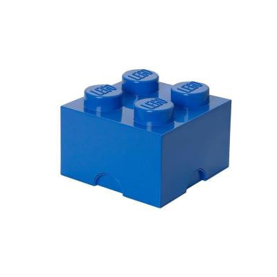 Storage Brick 4 - 9.84 in. D x 9.92 in. W x 7.12 in. H Stackable Polypropylene in Bright Blue