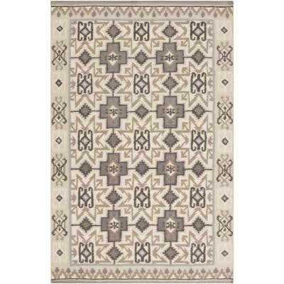 Jewel Tone II Beige 5 ft. x 8 ft. Indoor Area Rug