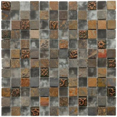 Cathedral Cologne 12 in. x 12 in. x 8 mm Glass and Stone Mosaic Tile