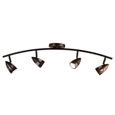 Celestial 4-Light Oil Rubbed Bronze Track Lighting Kit with Directional Heads