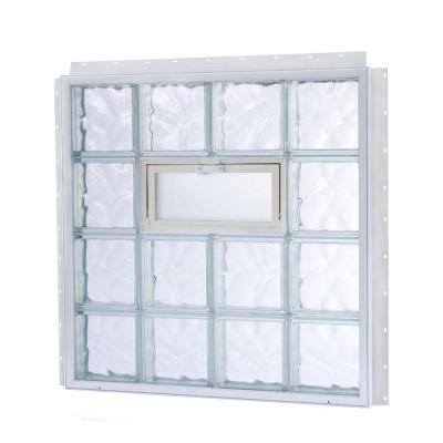 27.625 in. x 25.625 in. NailUp2 Vented Wave Pattern Glass Block Window