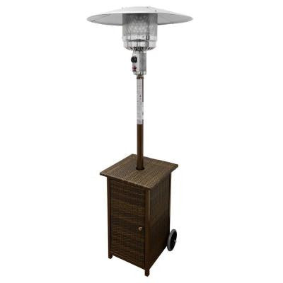 41,000 BTU Square Wicker Gas Patio Heater