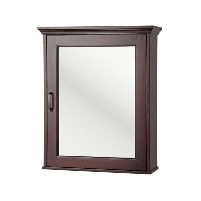 Ashburn 23 in. x 28 in. Surface-Mount Medicine Cabinet in Mahogany
