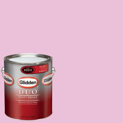 1-gal. #GLR12-01F Bubblegum Pink Flat Interior Paint with Primer