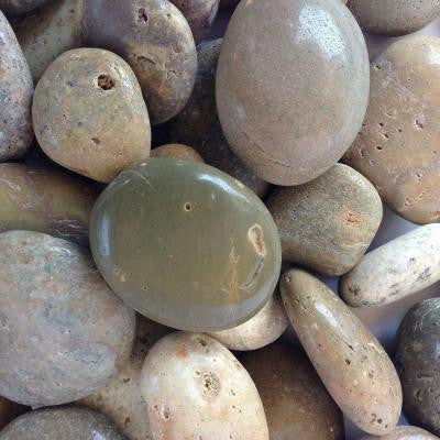 0.25 cu. ft. 1 in. - 2 in. Brown Mexican Beach Polished Pebble