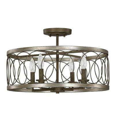 Austin Allen & Co. 4-Light Bronze Semi-Flush Mount Light
