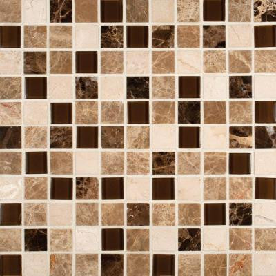 Ibiza Blend 12 in. x 12 in. x 8 mm Glass Stone Mesh-Mounted Mosaic Tile (10 sq. ft. / case)