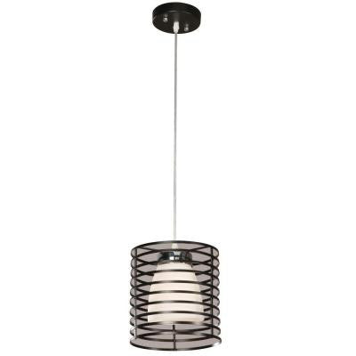 Aranga Drum 1-Light Matte Black Mini Pendant