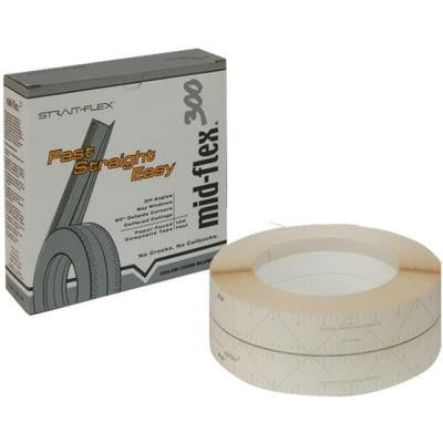 3 in. x 100 ft. Mid-Flex 300 Laminated Drywall Corner Tape MF-100S