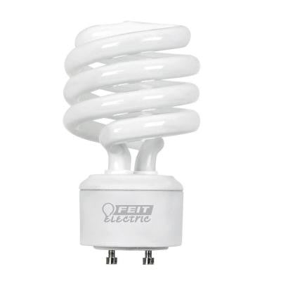 100W Equivalent Soft White (2700K) Spiral GU24 CFL Light Bulb (12-Pack)