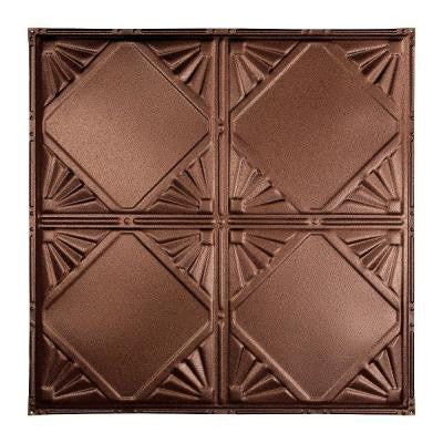 Erie 2 ft. x 2 ft. Nail-up Tin Ceiling Tile in Penny Vein