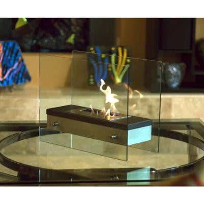 Ardore 18.5 in. Decorative Tabletop Bio-Ethanol Fireplace in Stainless Steel
