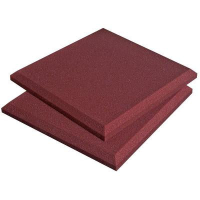 1 ft. W x 1 ft. L x 2 in. H SonoFlat Panels - Burgundy (14-Box)