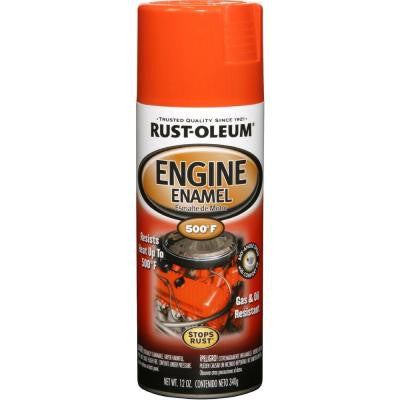 12 oz. 500° Gloss Chevy Orange Engine Enamel Spray Paint (Case of 6)