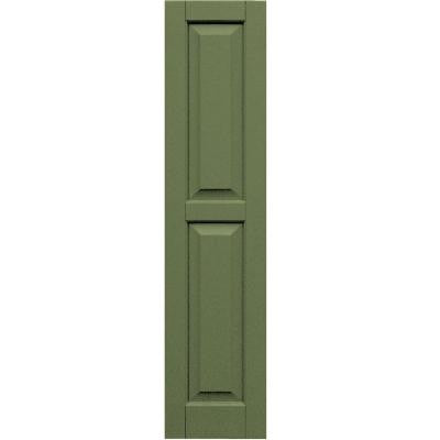 Wood Composite 12 in. x 52 in. Raised Panel Shutters Pair #660 Weathered Shingle